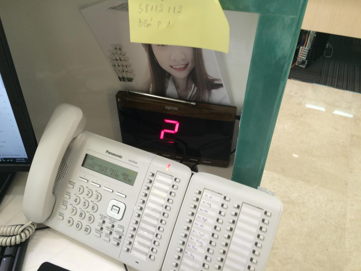 bảng thiết bị hiển thị tại các phòng cua y tá trực tỉnh tuyên quang