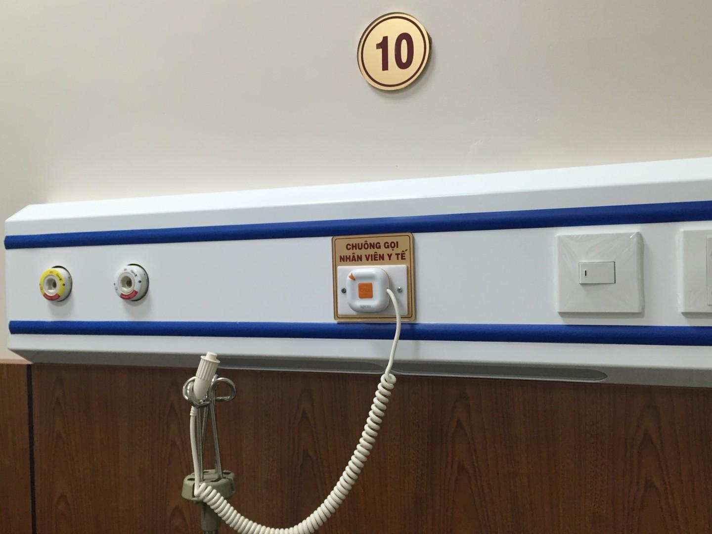 Lắp đặt hệ thống chuông gọi y tá WS-100 cho khoa khám chữa bệnh theo yêu cầu của BV quân đội