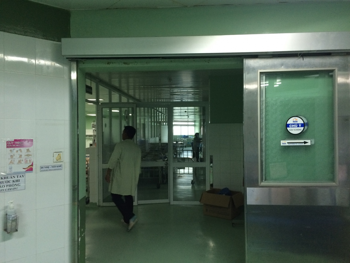 Ecall lắp đặt nút chuông gọi y tá WS-100 khoa gây mê hồi sức BVPS nhi Đà Nẵng