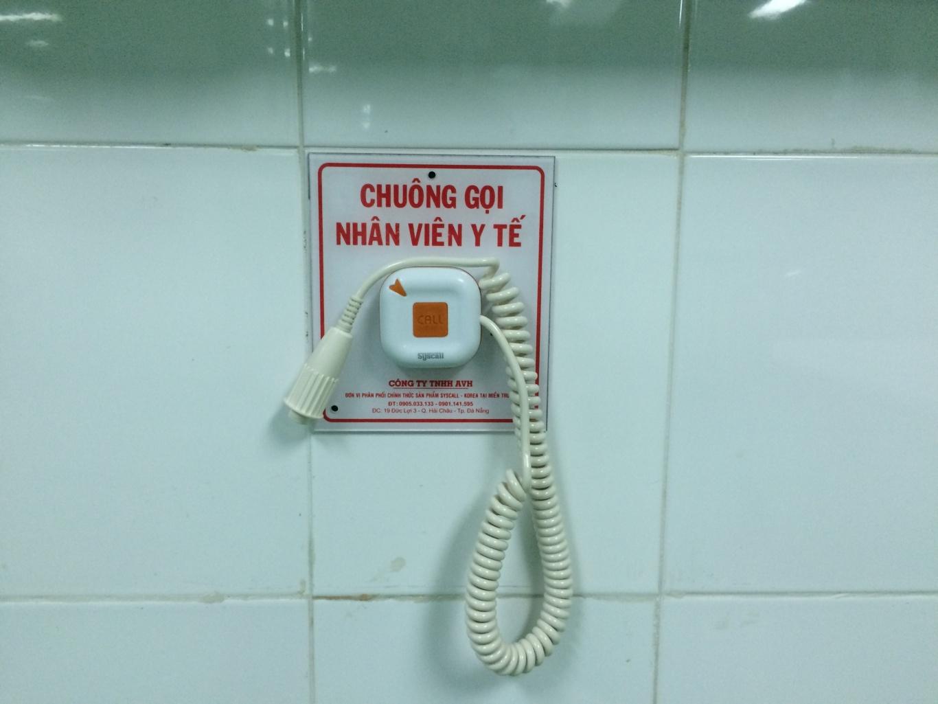Khoa gây mê hồi sức BVPS nhi Đà Nẵng đã lắp đặt nút chuông gọi y tá WS-100